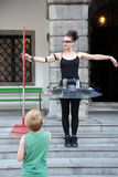 Children love street theater. Royalty Free Stock Photos