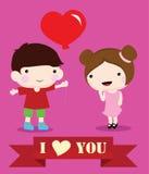 Children love. Valentine day, romance, wedding Stock Photos
