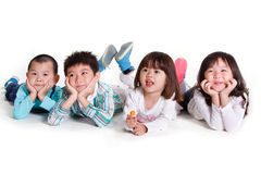 Children lying together Royalty Free Stock Photo