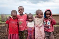 Children  in Maasai Mara, Kenya. Stock Image