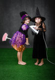 Children magic broom problem Stock Photos
