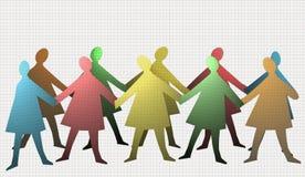 Children make the circle. Illustration Royalty Free Stock Images