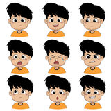 The children make the face many of the emotions. The children make the face many of the emotions, such as smiling, happy, laugh, sad, surprise, cry, tears vector illustration