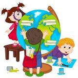 Children make globe Stock Photos
