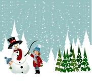 Children making Snowman Royalty Free Stock Photos
