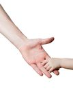 Children and man hands isolated Royalty Free Stock Photo
