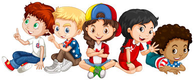 Children from many countries Royalty Free Stock Image