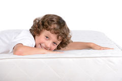 Children and many mattresses Stock Image