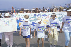 Children marching at environmental rally Royalty Free Stock Photo