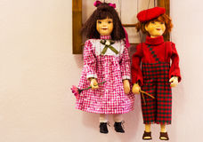 Children marionettes in Prague royalty free stock images