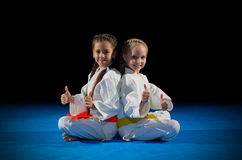Children martial arts fighters Royalty Free Stock Photos