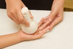 Children massage hand Stock Photography