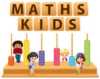 Children and math toy Royalty Free Stock Photography