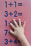 Children mathematics Royalty Free Stock Image