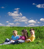 Children on a meadow Royalty Free Stock Image