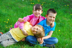 Children in a meadow Stock Photography