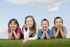 Children in meadow Stock Photography
