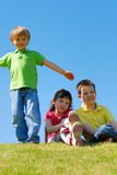 Children in a meadow Stock Photos