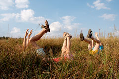 Children on a meadow Royalty Free Stock Images