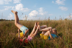 Children on a meadow Royalty Free Stock Photography