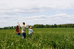 Children on meadow Royalty Free Stock Images