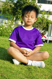 Children and meditation Stock Image