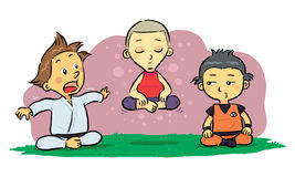 Children Meditation Stock Image