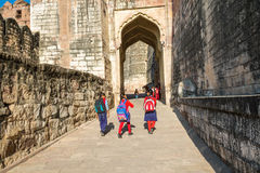 Children at Mehrangarh Fort Royalty Free Stock Photo