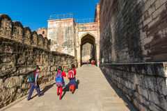 Children at Mehrangarh Fort Royalty Free Stock Photography