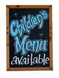 Children menu dostępny znak Zdjęcia Royalty Free