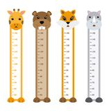 Children meter wall animals Royalty Free Stock Photos