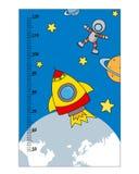 Children meter wall Stock Image