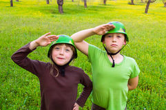 Children military Stock Images