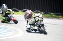 Children mini-bikers Stock Photo