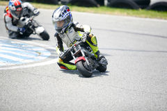 Children mini-bikers Stock Images