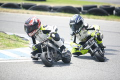 Children mini-bikers Royalty Free Stock Image
