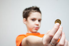 Children and Money Royalty Free Stock Photography