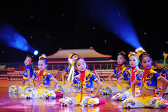 Children in the Mongolian dance performance Royalty Free Stock Photos