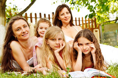 Children with mothers Stock Photography