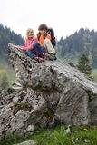 Children and mountain Stock Photos