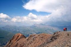 Children mountain peak Stock Photo