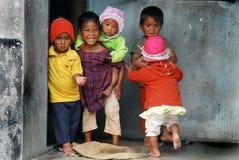 Children of the Mountain Village Royalty Free Stock Photos