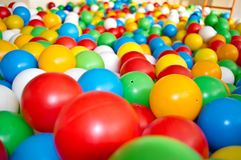 Children multi colored balls for dry massage.  royalty free stock photography
