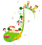Children of music school Stock Image