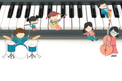 Children music school composition illustration Royalty Free Stock Image
