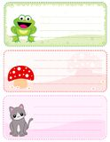 Children name cards Royalty Free Stock Photo
