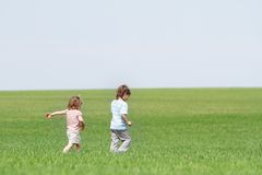 Children on natural background Royalty Free Stock Photo
