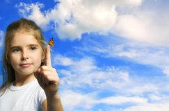 Children and nature royalty free stock photography