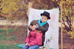 Children in Nature Stock Image