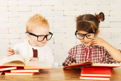 Children nerds Stock Image
